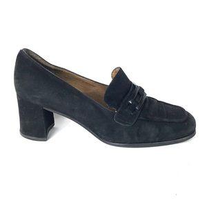 Stuart Weitzman suede black shoes size 8.5 B